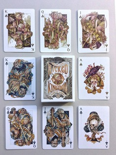 The Wicked Kingdom deck: Illustrated Playing Cards. art by Wylie Beckert #beckert #playingcards #cards #illustration #design