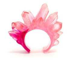 The Shiny Squirrel #pink #rock #ring