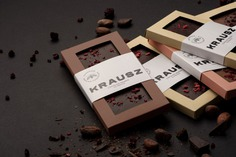 Krausz Chocolate Branding - Mindsparkle Mag Peltan-Brosz designed the branding for Krausz – a third generation small batch craft chocolate confectionery based in Transylvania, Romania. #logo #packaging #identity #branding #design #color #photography #graphic #design #gallery #blog #project #mindsparkle #mag #beautiful #portfolio #designer