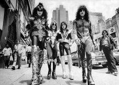 KISS Walking on the Street of New York City, June 24th, 1976. #kiss