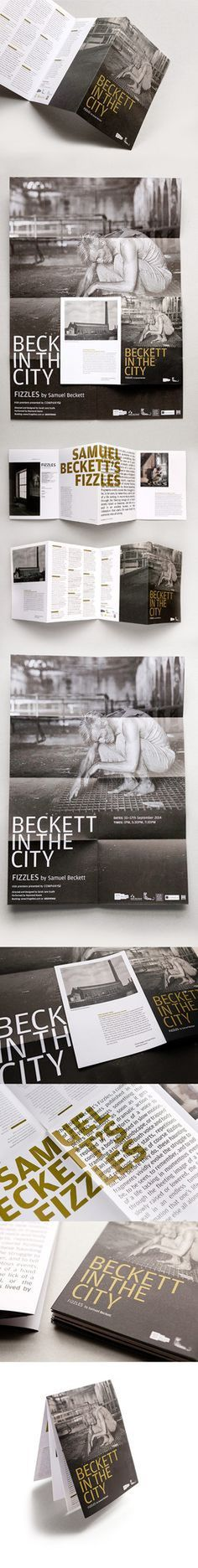 #design #layout #graphic #folded #programme #theatre #urbend #beckett