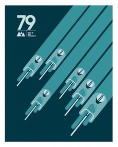 Caleb Kozlowski cycling posters | Veerle's blog 3.0 #caleb #kozlowski #geometric #illustration #posters #vintage #cycling