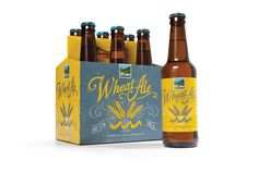 Wheat Ale. Upland Brewing Company #illustration #packaging #beer #lettering #hand lettered #craft beer