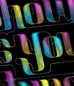 OFFF & Showusyourtype on Behance #lettering #showusyourtype #bubbles #color #black #iris #offf #type #typography