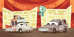 Cars Science Fair #illustration #cars #pixar #andrew kolb