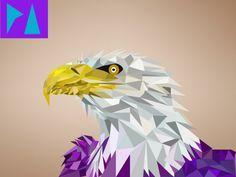(ADELAAR) #graphic #particals #eagle #purple #colour #piedade #rodrigues