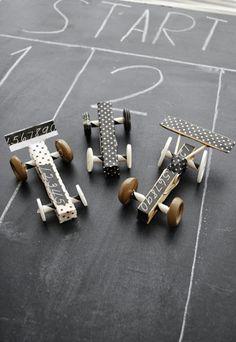 wyÅ›cigi #toys #clips #racer #made #diy #bolide #hand #buttons