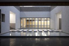 Korean Community Center minimal white architecture house building modern architect rextangle square korea