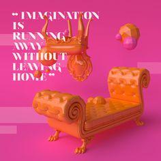 Classic Reborn by molistudio on Behance #typography #3d #interior #classic #minimal #colorful