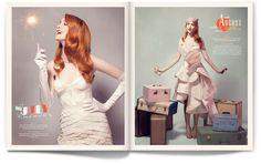 Calendar Girl - Matt Chase | Design, Illustration #red #head #photography #editorial #typography