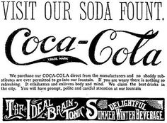 The Ideal Brain Tonic | Shorpy Historic Photo Archive #coca cola