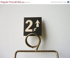 ON SALE 2 Cents Vintage General Store Price Tag #vintage #type #tag #price