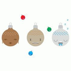BLANKET MAGAZINE - something & something else #christmas #illustration #vector #baubles