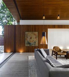 Contemporary and Fresh Tetris House by Studio mk27 elegant continuity materials living room