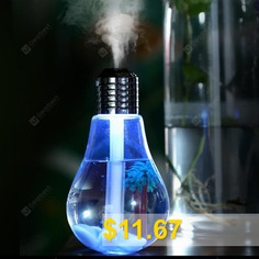 LED #Lamp #Air #Ultrasonic #Humidifier #for #Home #Essential #Oil #Diffuser #Atomizer #- #SILVER