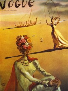 Open Creative - Salvador Dalí, Vogue December 1938 and April 1944. #fashion #cover #vogue #art