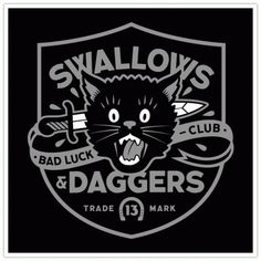 Clark Orr Design Company - Custom Illustration & Design - Swallows N Daggers, Bad Luck Club #orr #logo #clark