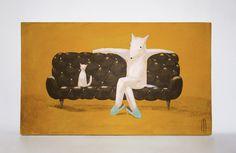 P1050835.jpg #squirrel #s #wood #illustration #art #painting #toy