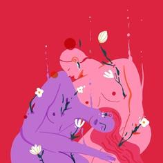 How to be soft - 06. Find those who help you bloom. . . . . #softness #howtobesoft #love #friendship #flora #california #oakland #digitalart #illustration #femaleartist #procreate #ipadpro #pastel #bloom