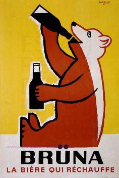 Raymond Savignac, 1950 viaAlways With Honor #bear