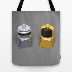 Duplo Daft Punk Tote Bag at Søciety6 #daftpunk #artprint #dj #duplo #lego #edm #dj #music #rickardarvius