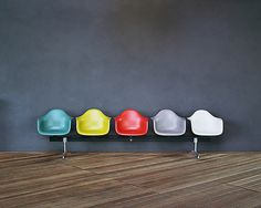 Eames public chairs #eames #color #palette #chairs