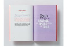 The Rules for the Conduct of Life Booklet - FPO: For Print Only #rule #booklet #design