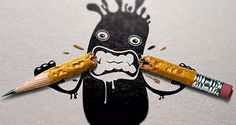 60 Visionary Examples of Creative Photography | inspirationfeed.com #illustration #angry #pencil #frustration