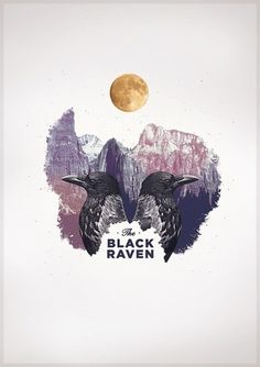 The Black Raven on the Behance Network #abstract #pale #design #clean #poster