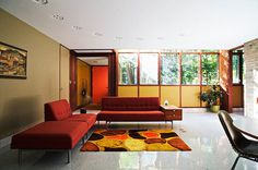 (1954-1958) George Nelson's Kirkpatrick House Designed and Built in Kalamazoo #interior #miller #beautful #retro #houses #herman