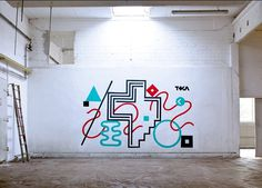 tokae wall #graffiti #wall #tokae #minimal