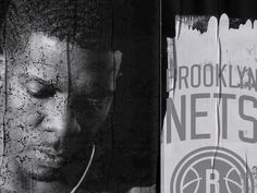 BROOKLYN NETS REDO — DERRICK C. LEE #blackwhite #nets #white #brooklyn #& #black #identity #nba #basketball