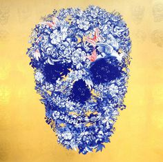 Jackie tsai art (5) #illustration #flowers #skull