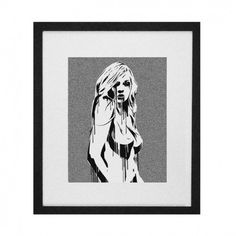 Amer Creative #sexy #girl #nude #print #stencil #hot #illustration #art #babe