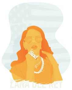 ANONYMOUS MAG #sing #artist #del #lana #american #rey #illustration #singer #bling