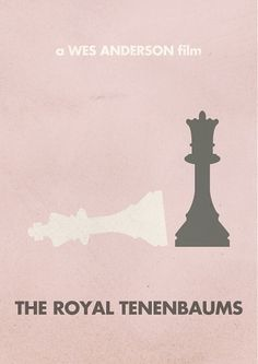 Justin Mezzell #print #wes #anderson #minimalism #royal #simple #tenenbaums #poster