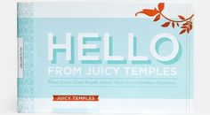 Hello from Juicy Temples #print #retro #vintage #brochure #typography