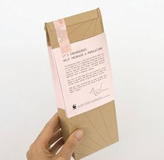 This is Origami : Lovely Package . Curating the very best packaging design. #origami #package