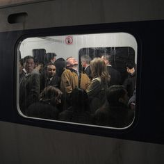 Leo Berne -Â Rick Owens; http://off-the-wall-b.tumblr.com/ #train #tube #metro