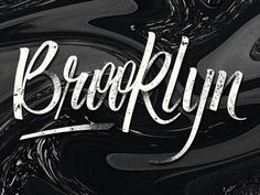 Brooklyn Lettering #calligraphy #lettering #vector #letter #typeface #brooklyn #typography