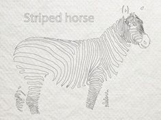Stripes horse #horse #design #striped #zebra #stripe