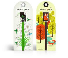 Bookjigs #vine #hummingbird #fox #illustration #bookmarks #trees