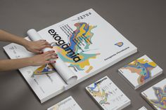 Exogamia, design festival branding by Oscar Medina, Ariadna Pujol, Judit Vilarasau, Albert Ramon, Sergi Delgado, Adria Molins #logotype #branding #stationary #design #paint #photography #brand #barcelona #logo