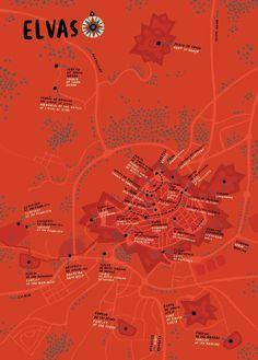 Andre Letria | Elvas #illustration #map