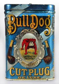 bulldog tin #design #typography #vintage #pipe #tin #bulldog #radness