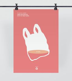 Recycling #recycle #pink #design #graphic #world #minimal #poster #recycling #change #bag #plastic #walsh