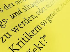 Bauwelt | Edenspiekermann #print #yellow #black #photography #and #typography