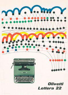 giovanni pintori | Tumblr #vintage #poster #olivetti #typewriter #ad