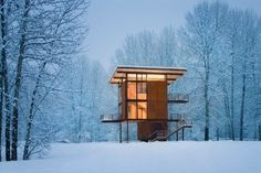 architecture, cabin, simple, modern, building, house,