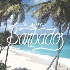 Visit Barbados Lettering